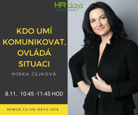 Na koho se ještě můžete těšit 8. listopadu na HR Days?