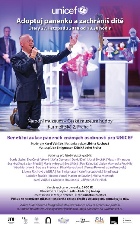 Benefiční aukce panenek známých osobností pro UNICEF 🗓 🗺