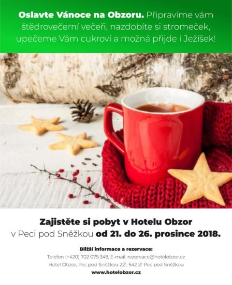 Užijte si Vánoce v hotelu na Obzoru!