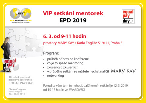 6. 3. 2019 – VIP setkání mentorek v Mary Kay 🗓 🗺