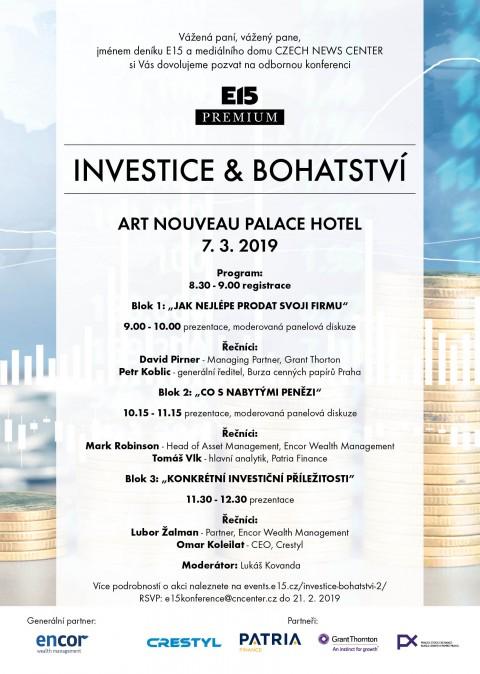 Konference Investice a bohatství 🗓 🗺