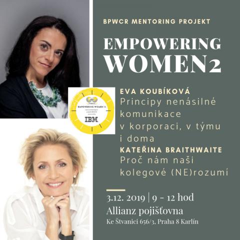 3.12.2019 – Třetí mentoringový stůl projektu Empowering Women 2 powered by IBM 🗓 🗺