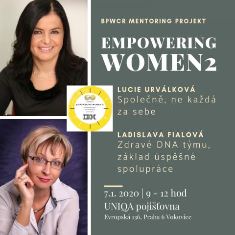 7.1.2020 – Čtvrtý mentoringový stůl projektu Empowering Women 2 powered by IBM 🗓 🗺