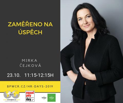 Mirka Čejková se zaměřuje na úspěch