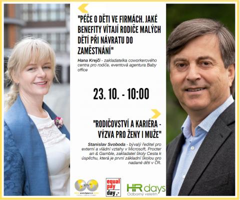 Hana Krejčí a Stanislav Svoboda na HR Days