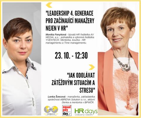 Monika Fenyková a Lenka Švecová na HR Days