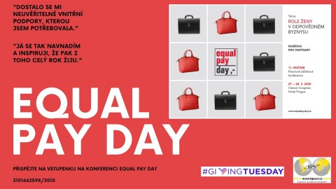 Přispějte do stipendijního fondu na vstupenku Equal Pay Day
