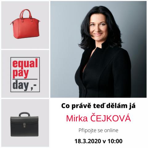 18. 3. 2020 – Co právě teď dělám já. S Mirkou Čejkovou 🗓