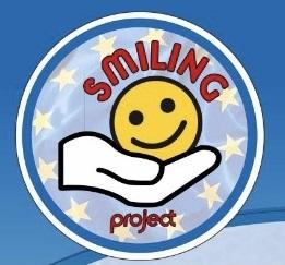 smiling logo blue
