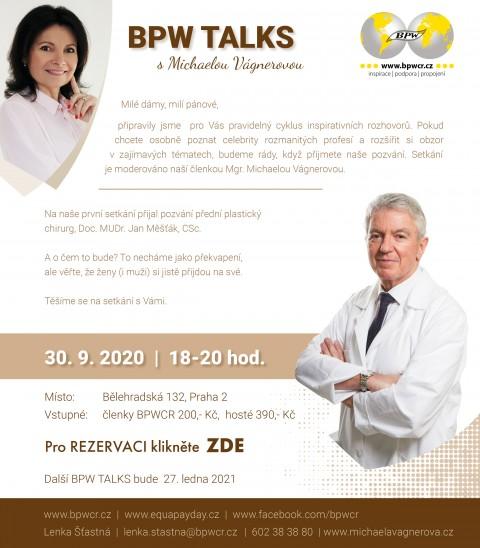 30. 9. 2020 – BPW TALKS s Michaelou Vágnerovou a Janem Měšťákem 🗓 🗺