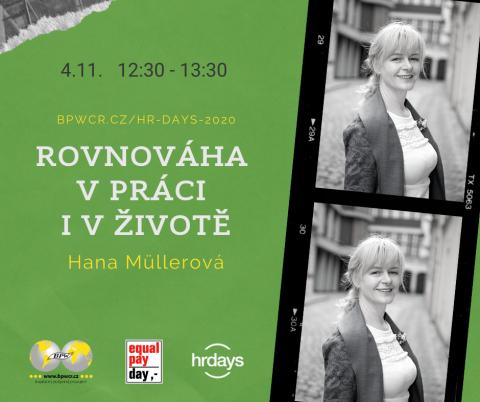 Rovnováha v práci i v životě – Hana Müllerová na HR Days