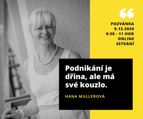 9.12.2020 – Mentoring pro Prahu 4 s Hanou Mullerovou 🗓 🗺