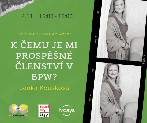 K čemu je mi prospěšné členství v BPW? – Lenka Kousková na HR Days
