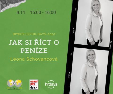 Jak si říct o peníze – Leona Schovancová na HR Days