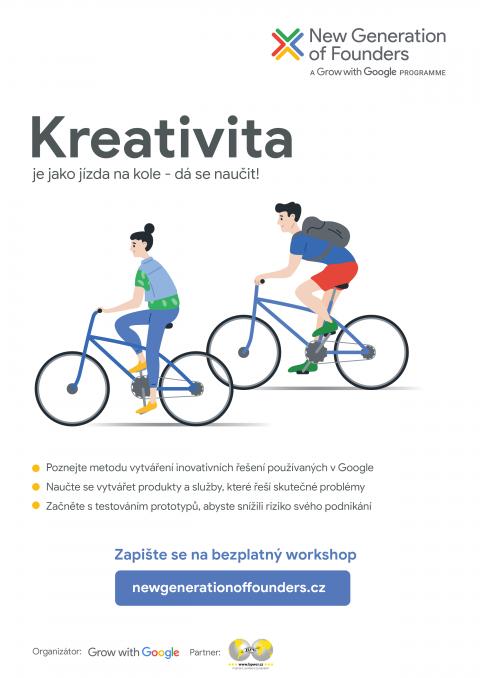 Kreativita je jako jízda na kole – dá se naučit