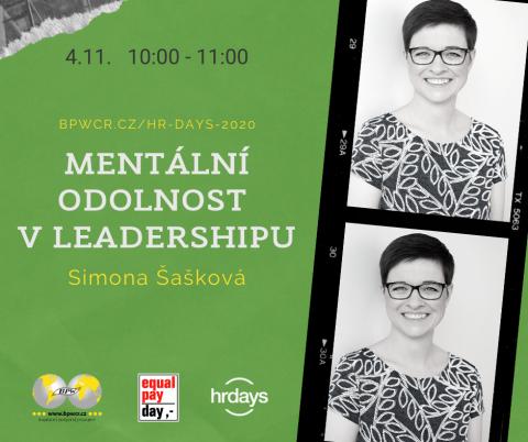 Mentální odolnost v leadershipu – Simona Šašková na HR Days