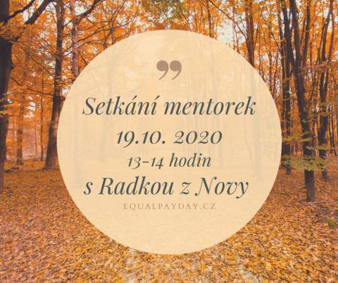 Online setkání pro mentorky Equal Pay Day 2020 🗓