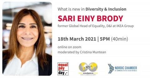 """18. 3. 2021 Neformální setkání """"Diversity & Inclusion"""" se Sari Einy Brody 🗓"""