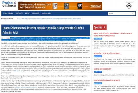 Leona Schovancová: Interim manažer pomůže s implementací změn i řešením krizí