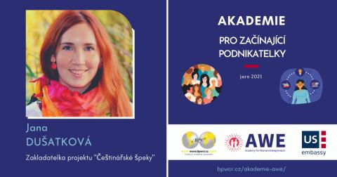 """Jana Dušátková: S AWE posouvám své """"špeky"""" na profesionálnější úroveň."""
