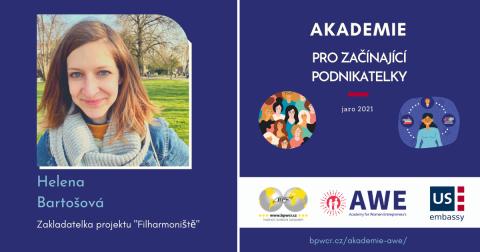 """Helena Bartošová: """"V AWE hodne sdílíme a vedou nás zkušené podnikatelky."""""""