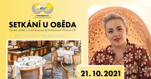 21.10.2021 Pozvánka na tradiční networkingový oběd BPWCR 🗓 🗺