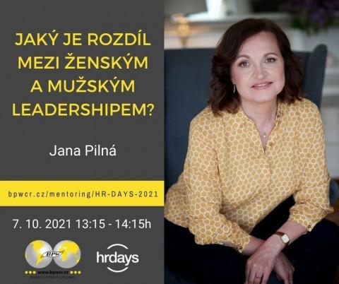 Jana Pilná: Jaký je rozdíl mezi ženským a mužským leadershipem?