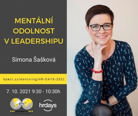 Simona Šašková: Mentální odolnost v leadershipu