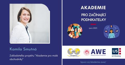 """Kamila Smutná : """"Práce s komunitou malých obchodníků mi dává smysl!"""""""