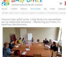 BabyOffice.cz: Pracovní vlak ujíždí rychle. S Digi školou ho nezmeškáte ani na rodičovské dovolené