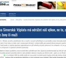 Lenka Simerská: Výplata má odrážet náš výkon, ne to, zda jsme ženy či muži