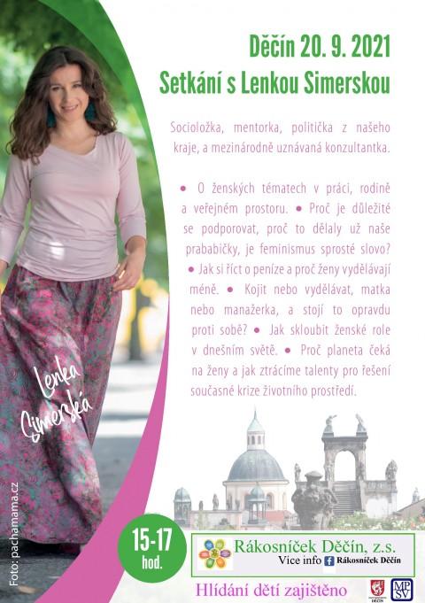 20.9.2021 – Setkání s Lenkou Simerskou o ženských tématech ve veřejném prostoru 🗓