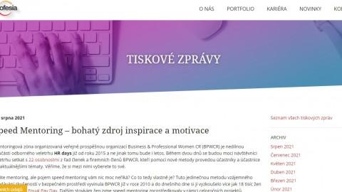 Profesia.cz: Speed Mentoring – bohatý zdroj inspirace a motivace